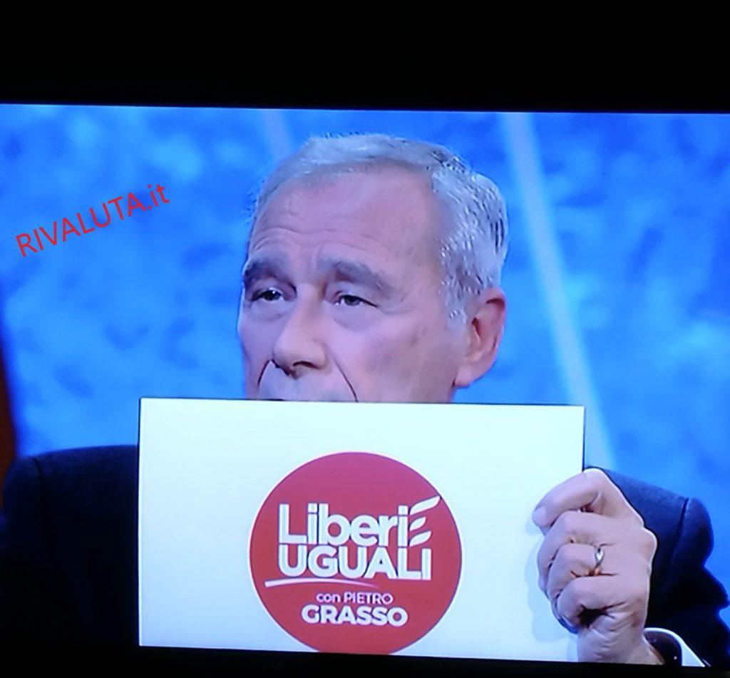 Il Logo di Liberi Uguali con PIETRO GRASSO