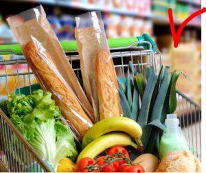 Spesa al dettaglio. Carrello alimentari