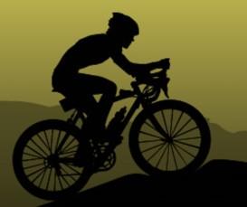 Ciclista che pedala in salita